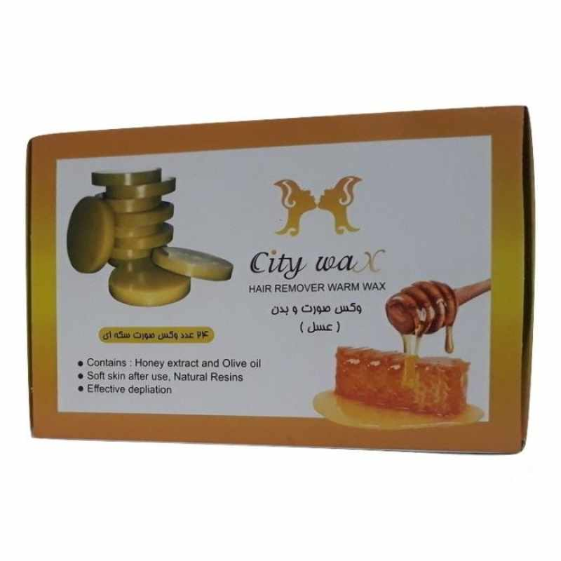وکس موبر سیتی وکس City Wax Honey بسته 24 عددی