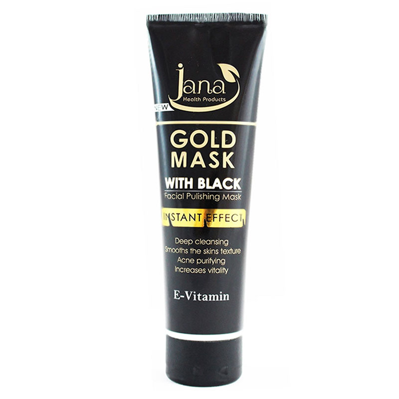 ماسک صورت جانا Jana مدل Gold With Black حجم 100 میلی‌لیتر